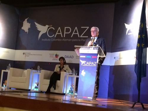 Opening ceremony of the CAPAZ Institute with foreign minister of Germany: Steinmeier