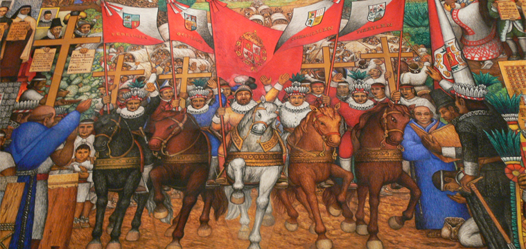 Invasion der Spanier in Tlaxcala
