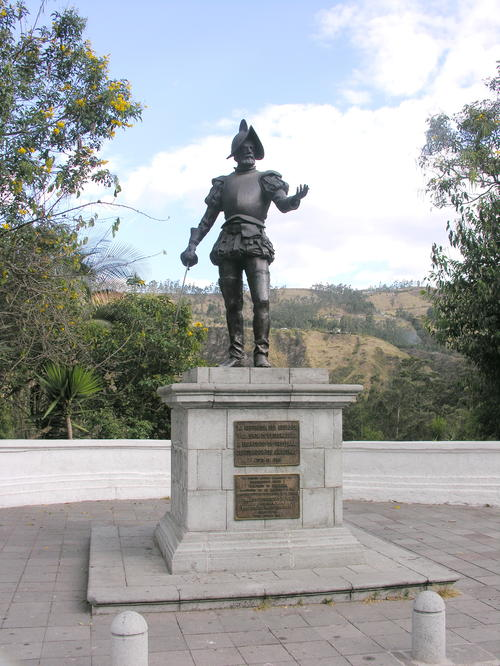 Orellana Statue in Guapulo, Quito