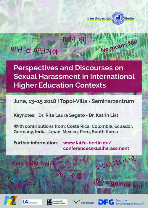 Plakat Conference Sexual Harassment